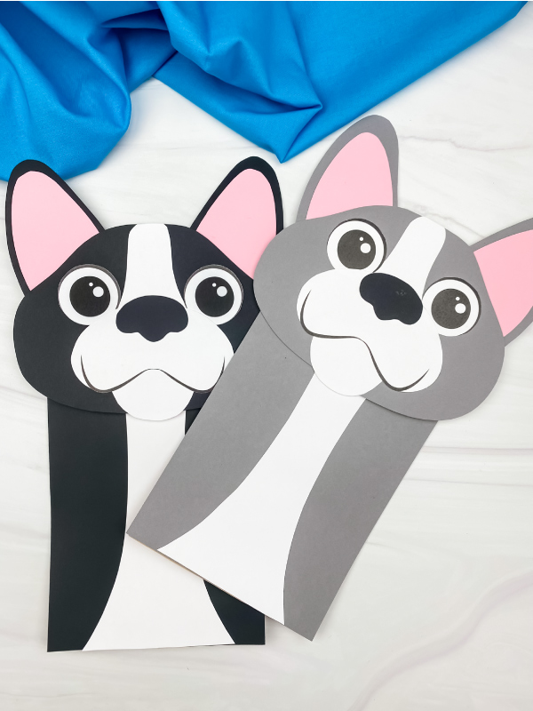 2 paper bag dog crafts