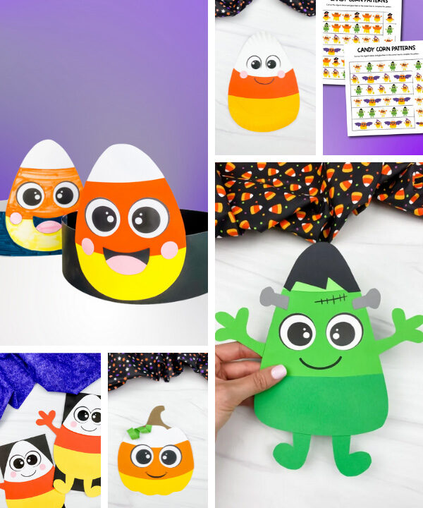 candy corn activities image collage