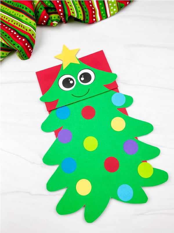 christmas tree puppet craft