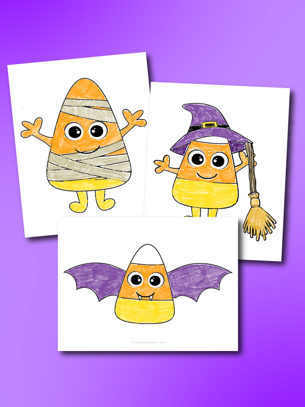 candy corn coloring pages mockup