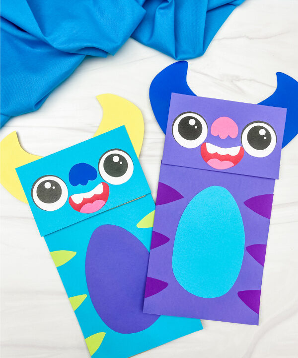 2 monster paper bag crafts
