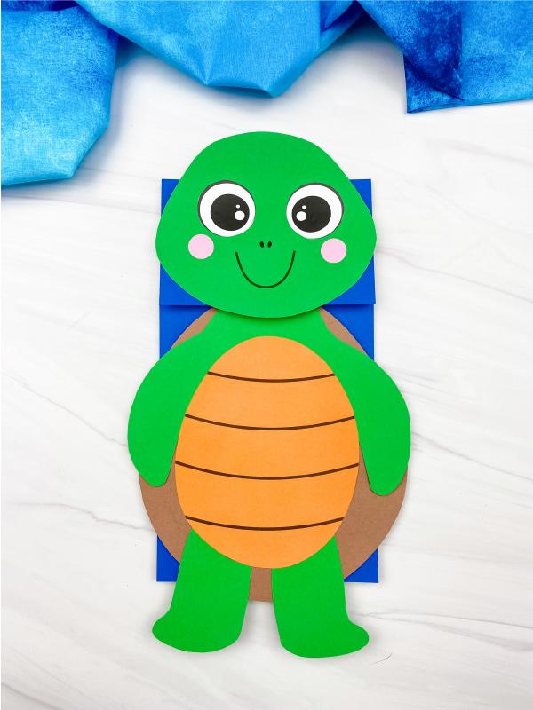paper bag turtle craft