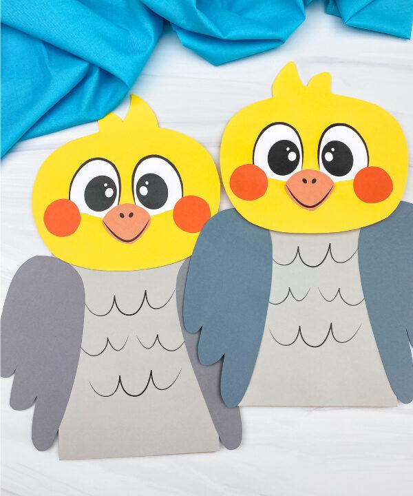 paper bag bird crafts