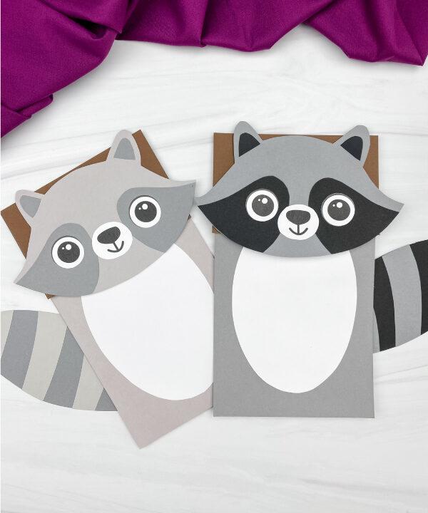 2 paper bag raccoon crafts