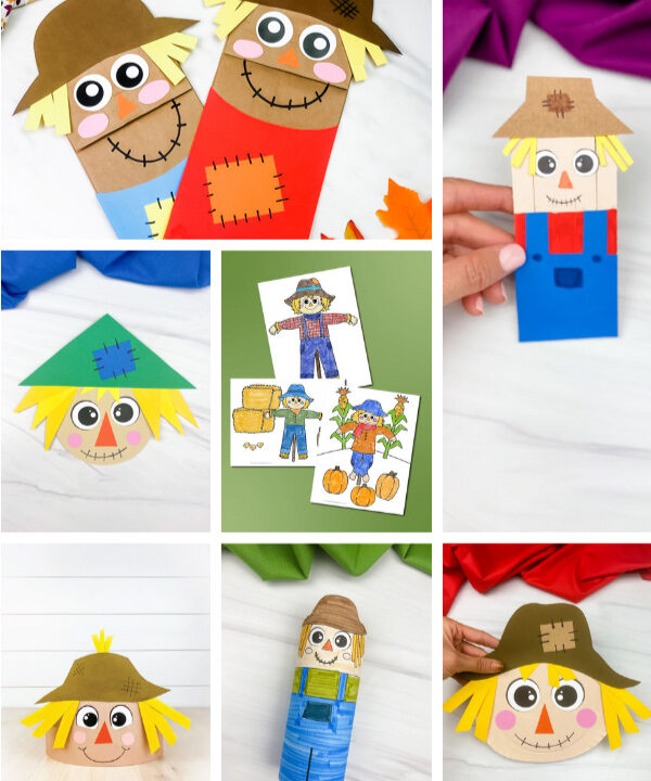 scarecrow activities for kids image collage
