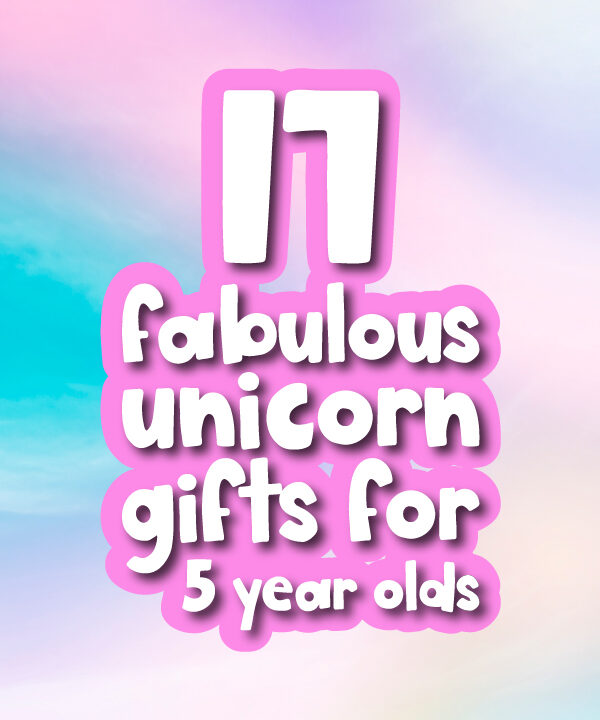 rainbow background with the words 17 fabulous gift ideas for 5 year olds