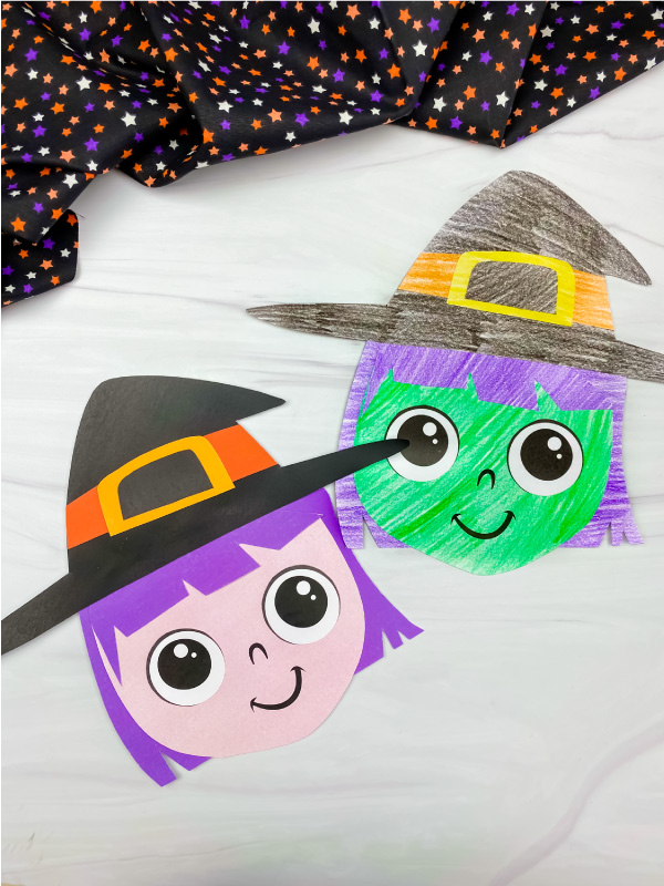 2 witch cut and paste crafts