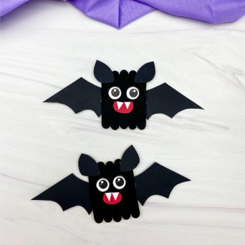 2 bat popsicle stick crafts
