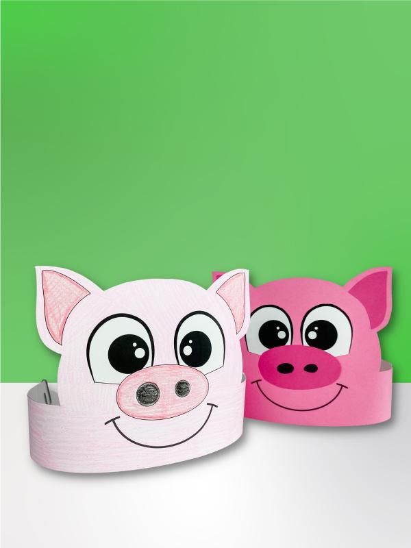 pig headband crafts