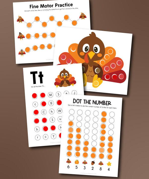 Fun Thanksgiving Do A Dot Printables