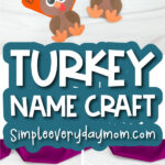 name turkey craft image collage with the words turkey name craft
