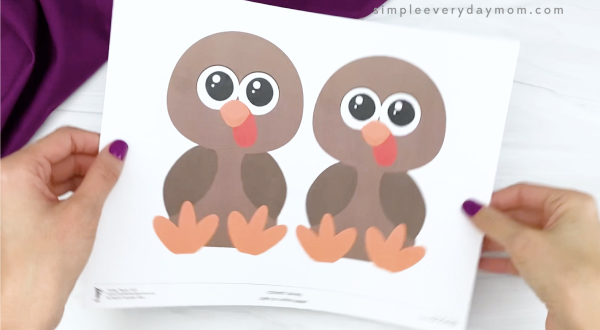 hand holding name turkey template