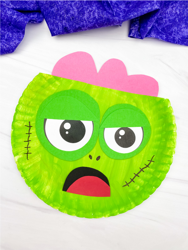 paper plate zombie