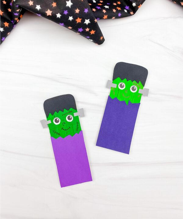 2 Frankenstein popsicle stick crafts
