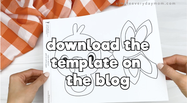 hand holding printable turkey craft template