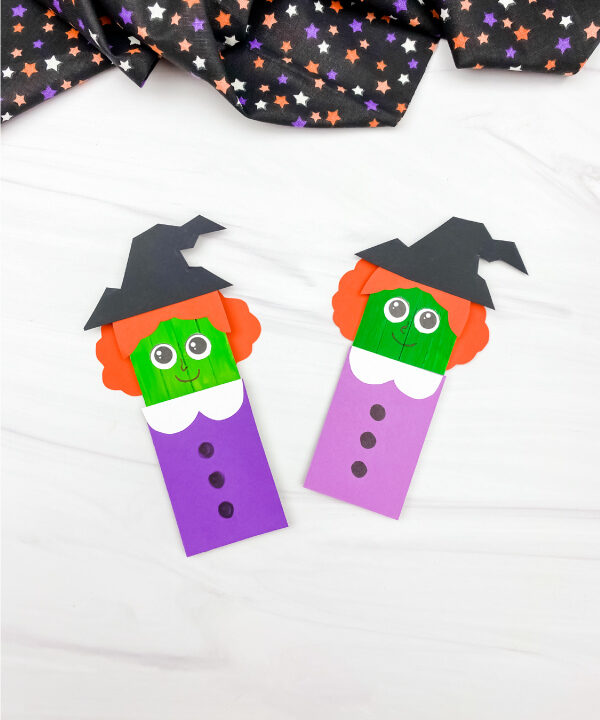 2 popsicle stick witch crafts