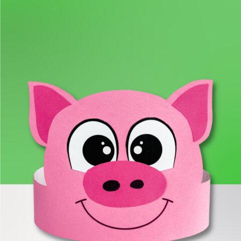 pig headband craft