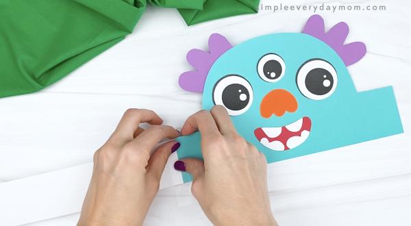 hand taping extender to monster headband