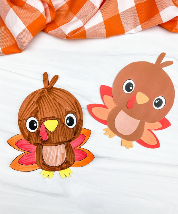 2 printable turkey crafts