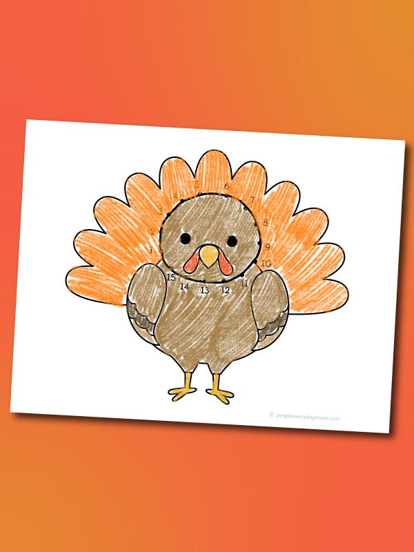 turkey dot to dot printable