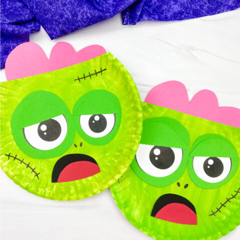 Zombie Paper Plate Craft For Kids [Free Template]