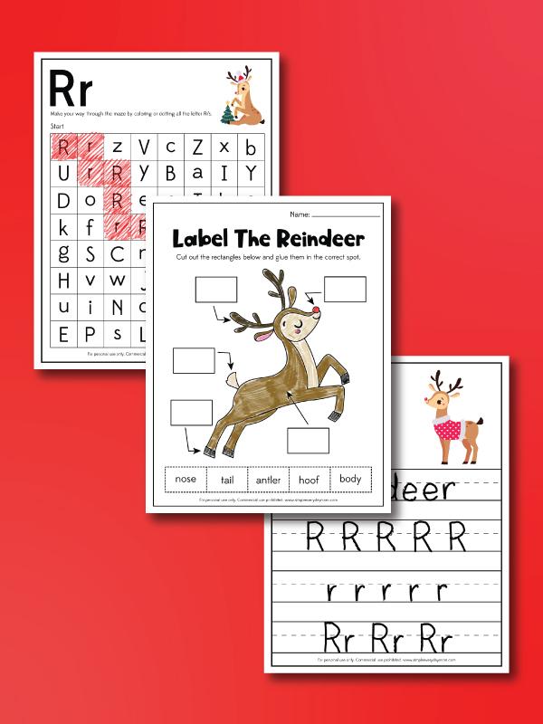 reindeer worksheets