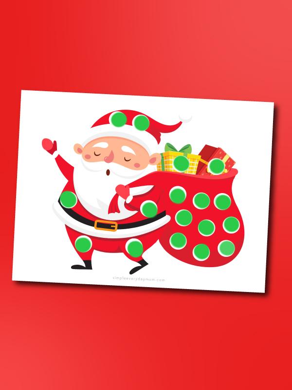 Santa do a dot printable