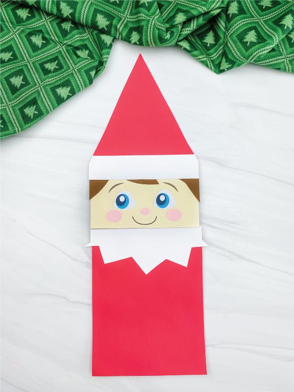 elf on the shelf paper bag craft