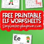 elf worksheets with the words free printable elf worksheets