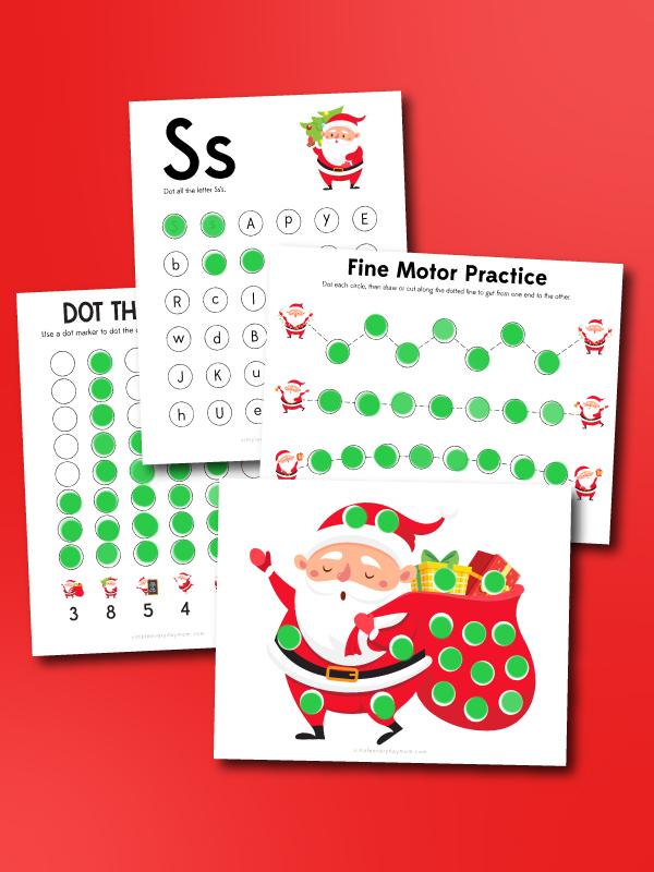 Santa do a dot printables