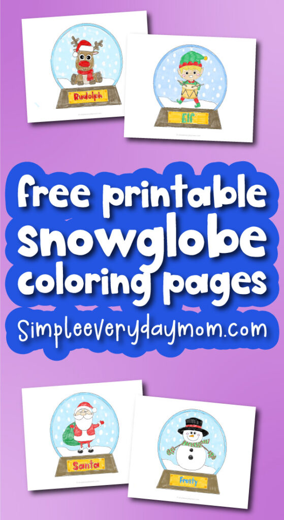 snowglobe coloring pages with the words free printable snowglobe coloring pages