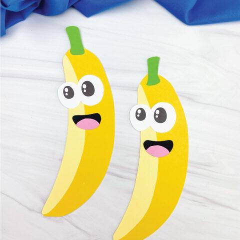 2 paper banana crafts for kids