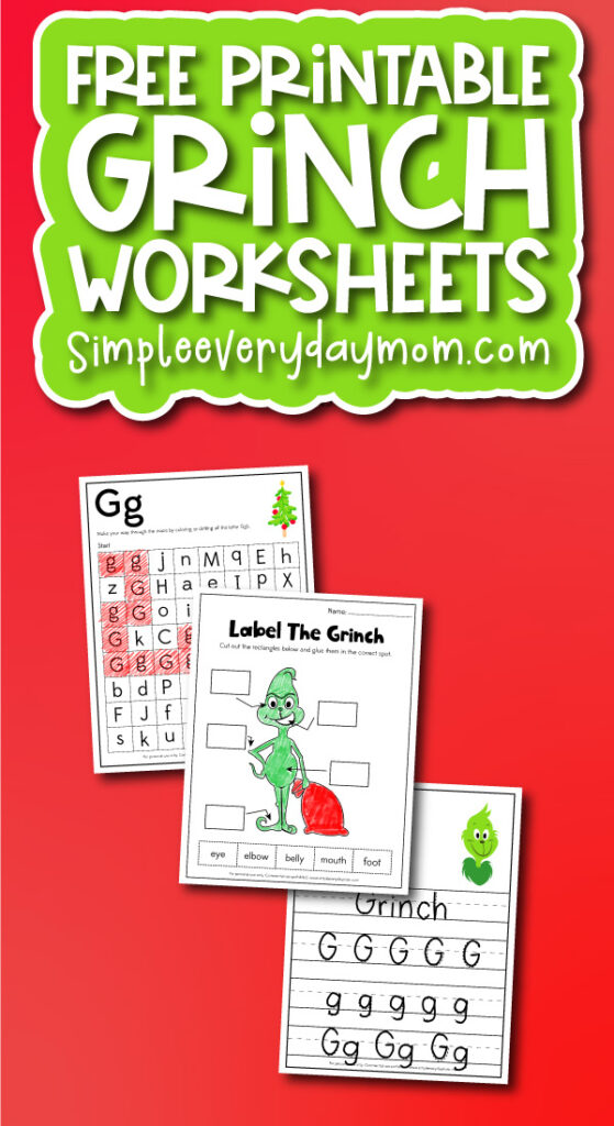 grinch worksheets for kids with the words free printable grinch worksheets