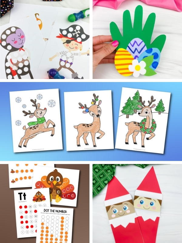 printable holiday activities image collage